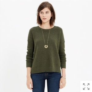 Madewell Green Texturework Sweater, size Medium